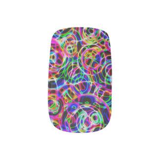 Neon Circles Minx Nail Art