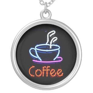 Neon Coffee Sign Necklace