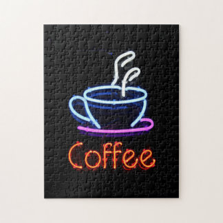 Neon Coffee Sign Puzzle
