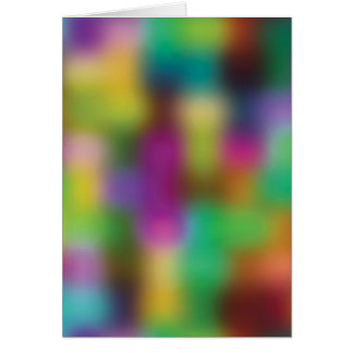 Neon color blur greeting cards
