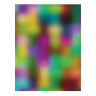 Neon color blur postcard