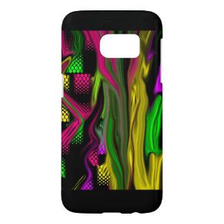 Neon colorful flames phone case design