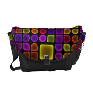 Neon Colors and Shapes Rickshaw Messenger Bag