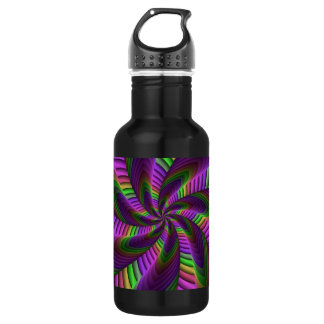 Neon Colors Flash Crazy Colorful Fractal Pattern 532 Ml Water Bottle