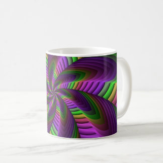Neon Colors Flash Crazy Colorful Fractal Pattern Coffee Mug