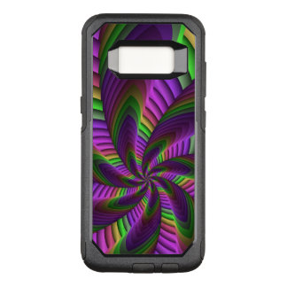Neon Colors Flash Crazy Colorful Fractal Pattern OtterBox Commuter Samsung Galaxy S8 Case