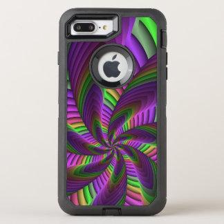 Neon Colors Flash Crazy Colorful Fractal Pattern OtterBox Defender iPhone 8 Plus/7 Plus Case