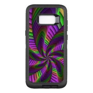 Neon Colors Flash Crazy Colorful Fractal Pattern OtterBox Defender Samsung Galaxy S8+ Case
