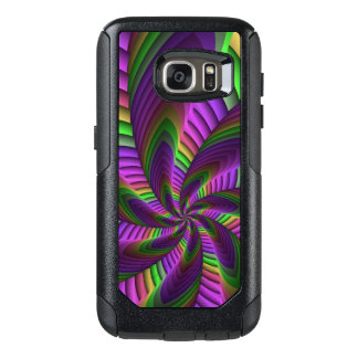 Neon Colors Flash Crazy Colorful Fractal Pattern OtterBox Samsung Galaxy S7 Case