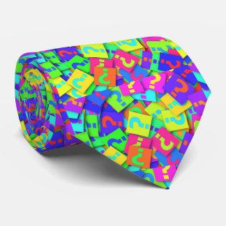 Neon Colors Question Mark Necktie