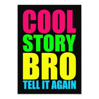 Neon Cool Story Bro 13 Cm X 18 Cm Invitation Card