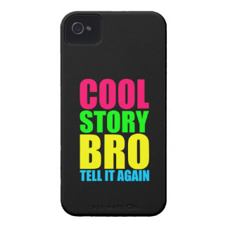 Neon Cool Story Bro iPhone 4 Case