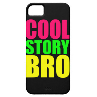 Neon Cool Story Bro iPhone 5 Cover