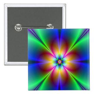 Neon Daisy 15 Cm Square Badge