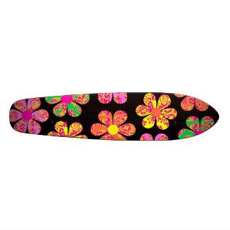Neon Damask Flowers Skate Board Decks