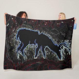 Neon Deer Hunter Camo Fleece Blanket