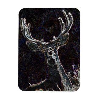 Neon Deer Vinyl Magnet