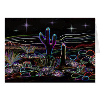 Neon Desert Stary Night Card