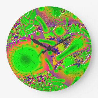 Neon Dichroic Psychedelic Wall Clocks