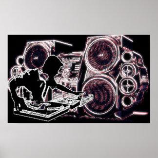 Neon DJ Poster