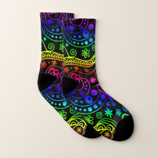 Neon Doodle Art Socks
