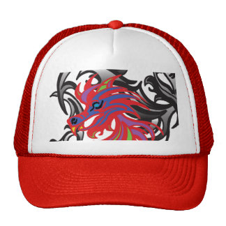 Neon Dragon Hats