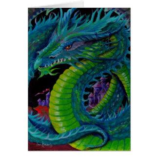 NEON DRAGON II by Lori Karels Card