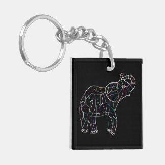 Neon Electric Elephant Keychain
