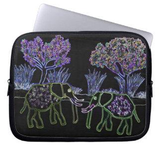 Neon Electric Elephants Laptop Sleeve