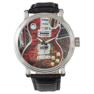 Neon Electric Guitar Watch