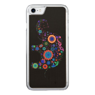 Neon Elephant Carved iPhone 7 Case