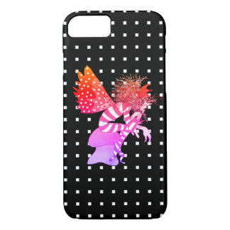Neon Fairy Cartoon Butterfly Black Geometric Cool iPhone 8/7 Case
