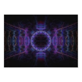 """Neon Fame"" Fractal Art 13 Cm X 18 Cm Invitation Card"