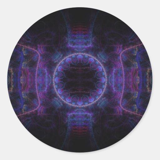 """Neon Fame"" Fractal Art Sticker"