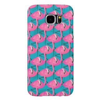 Neon Flamingos Samsung Galaxy S6 Cases