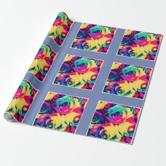 Neon Floral Wrapping Paper