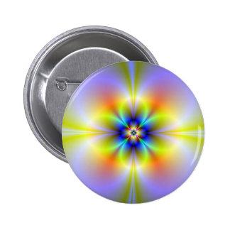 Neon Flower Button