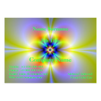 Neon Flower Chubby Business Card
