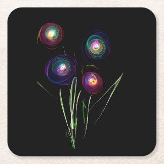 Neon Flower Coaster Square Paper Coaster