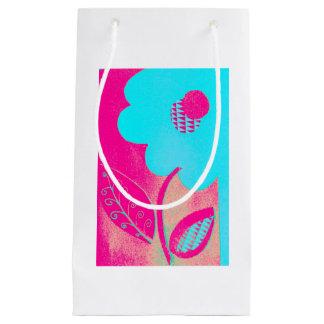 Neon Flower Gift Bag