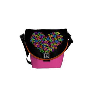 Neon Flower Heart Commuter Bag