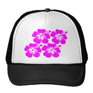 neon flower hibiscus hats