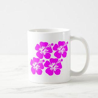 neon flower hibiscus mug