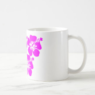 neon flower hibiscus mugs