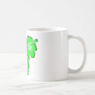 neon flower hibiscus coffee mug