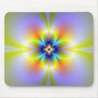 Neon Flower Mousepad