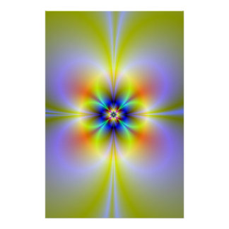 Neon Flower Poster