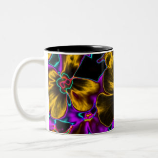 Neon Flowers 01 Coffee Mug