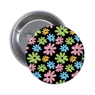 Neon Flowers Pinback Button