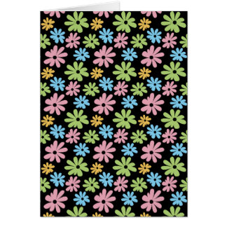 Neon Flowers Greeting Cards